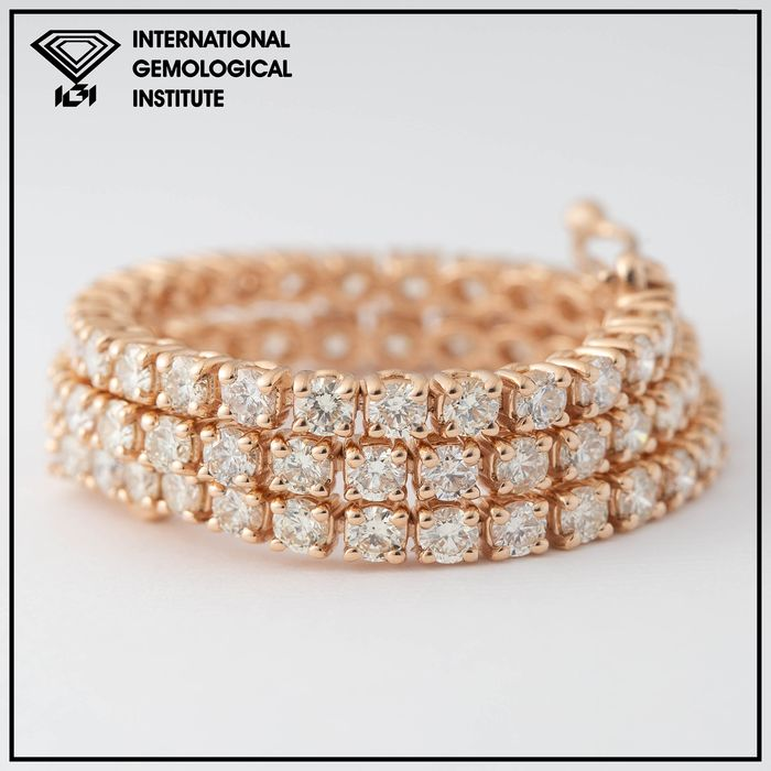 14 kt. Pink gold - Bracelet - 3.40 ct Diamond