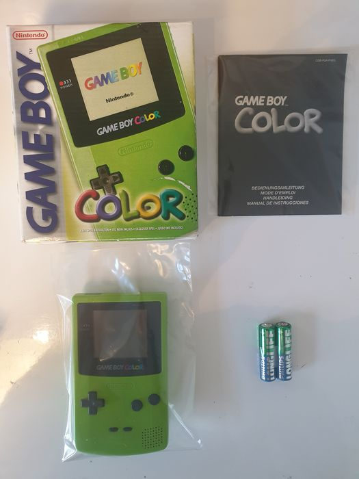 Nintendo Gameboy Color ¨GBC Rare Lime Green KIWI Edition with Unique Serial#CH5116690 - Console - In originele verpakking