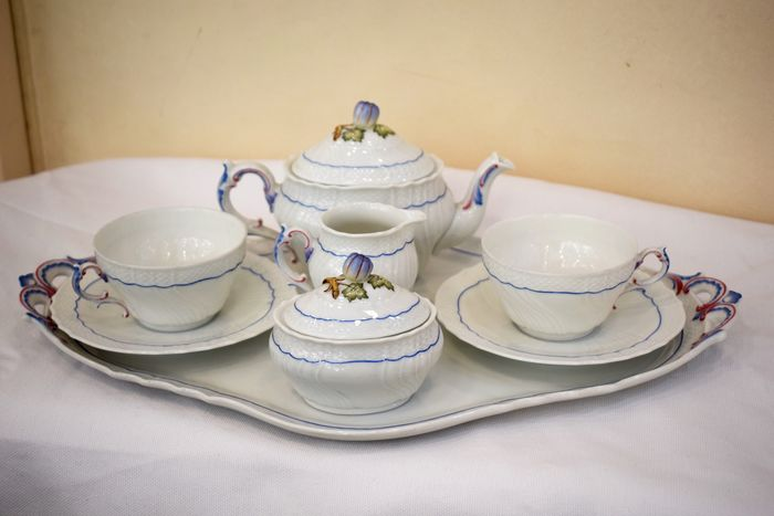 Pittoria Richard Ginori - Set tet a tet (8) - Porcelain