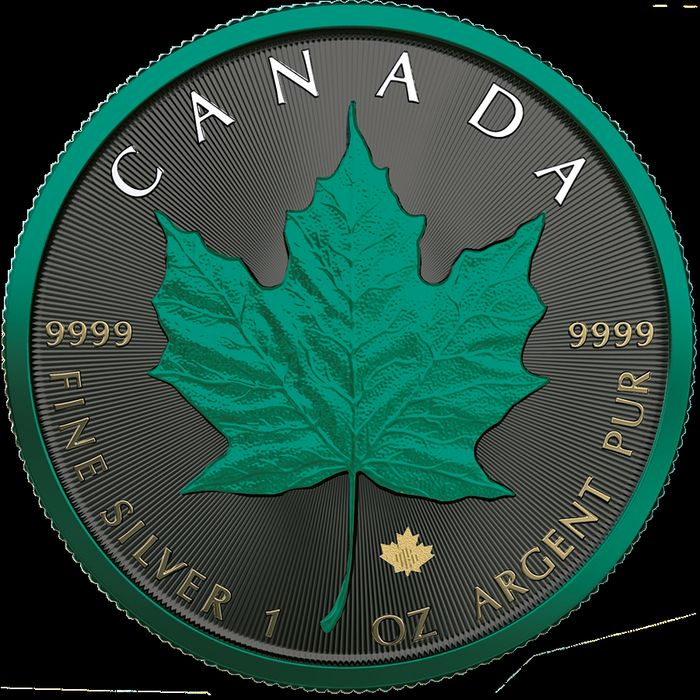 Canadá. 5 Dollars 2020 - Maple Leaf - Partial Space + Partial Plating - 1 oz