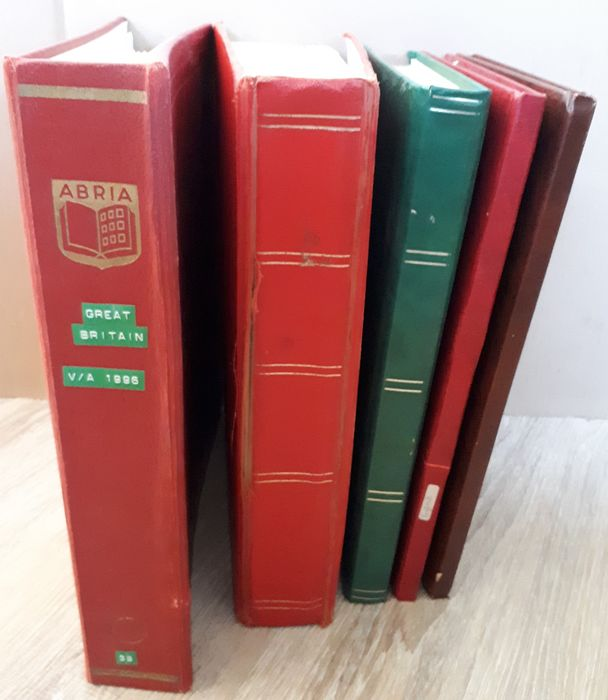 Great Britain - Batch in 4 stock books and an album