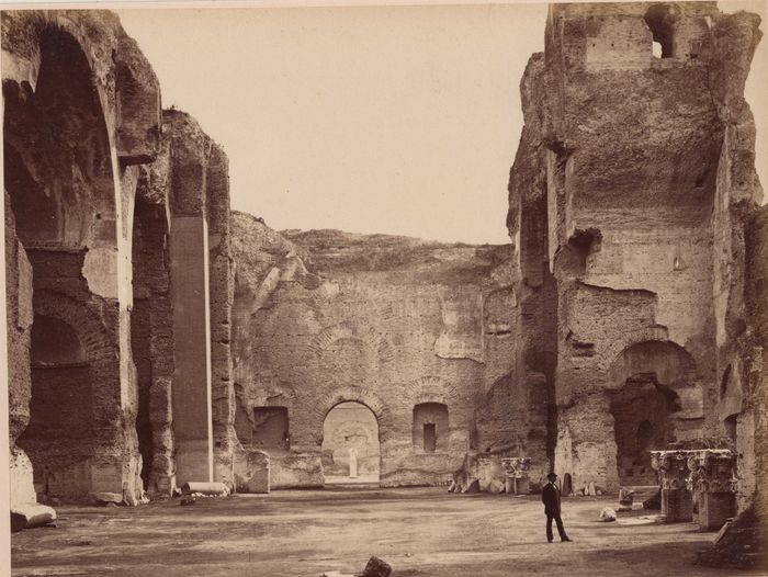 Ludovico Tuminello (1824-1907) - Ruins of the Main Hall of the Baths of Caracalla, Rome