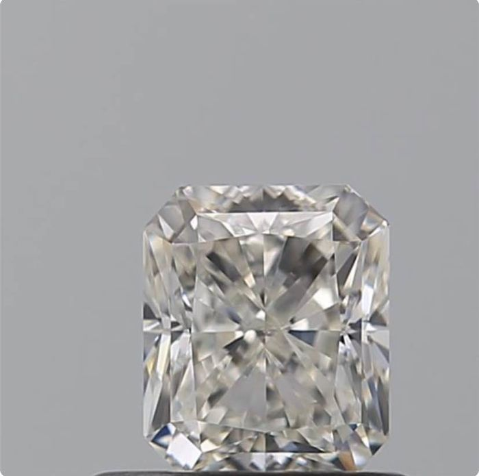 1 pcs Diamante - 0.70 ct - Radiante - D (incoloro) - VS1
