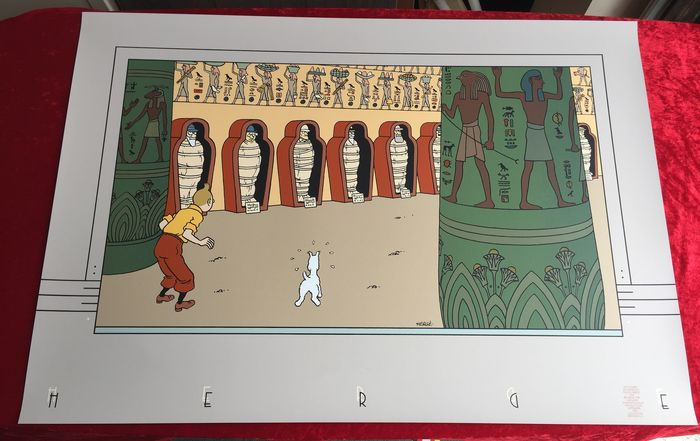 Tintin - Sérigraphie Archives Internationales - Les cigares du pharaon - (1990)