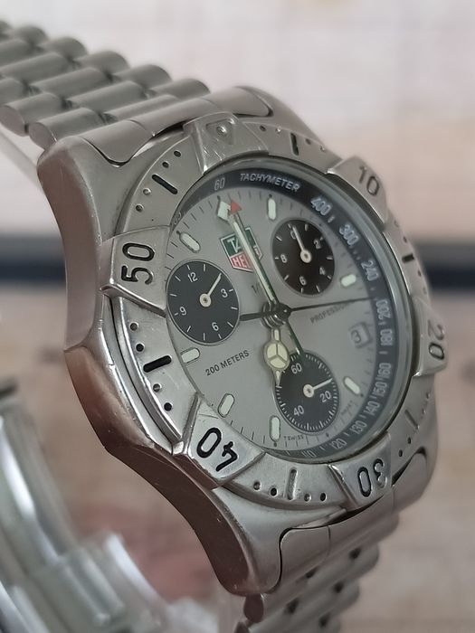 "TAG Heuer -  Professional chronograph - 200 Meters - 540.206 R- ""NO RESERVE PRICE"" - Uomo - 1990-1999"