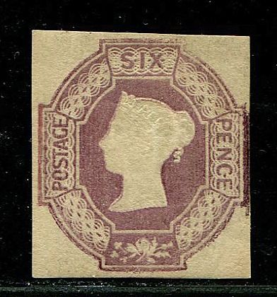 Great Britain 1854 - 6 pence mauve Watermark Inverted - Stanley Gibbons 58Wi