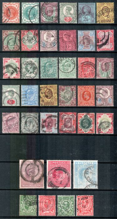 Great Britain 1887/1912 - set - Stanley Gibbons
