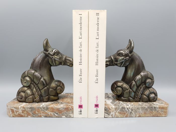 Jamar - Pair of Horse Bookends - Art Deco
