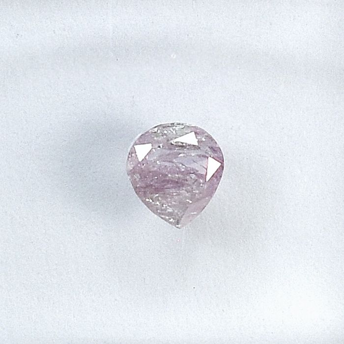 Diamond - 0.19 ct - Pear - Natural Fancy Light Pink - I3 - NO RESERVE PRICE