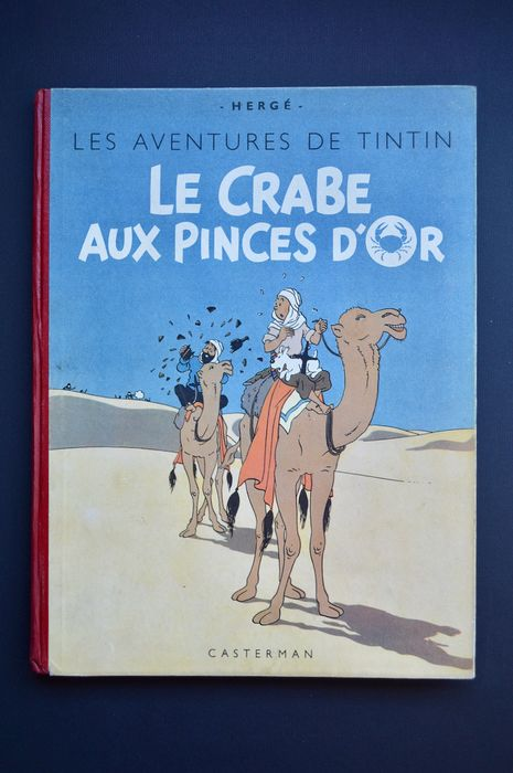 Tintin T9 - Le Crabe aux Pinces d'Or (B1) - C  - Genoptryk - (1947)