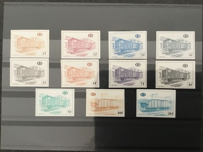 Belgium 1971/1987 - Lot of imperforate railway stamps and sets