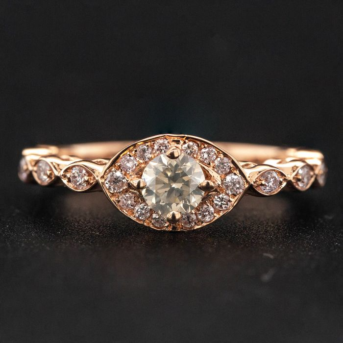 14 kt. Pink gold, 3.07g - Ring - 0.54 ct Diamond - No Reserve Price