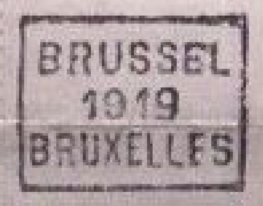 Belgium - Penal postage due stamp 5 centimes green with hand roll cancellation Brussels 1919 Bruxelles in full sheet of 100