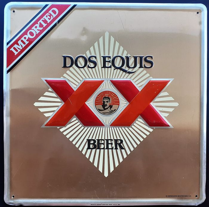 Dos Equis XX Beer - Plaque (1) - Iron (cast/wrought)