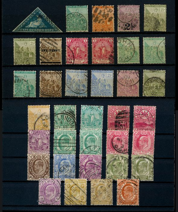 Cape of Good Hope - Lot with 36 cancelled stamps - Michel