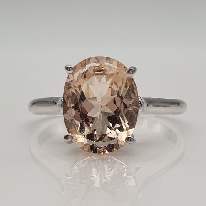 14 kt. White gold - Ring, Without reservation - 2.40 ct Morganite