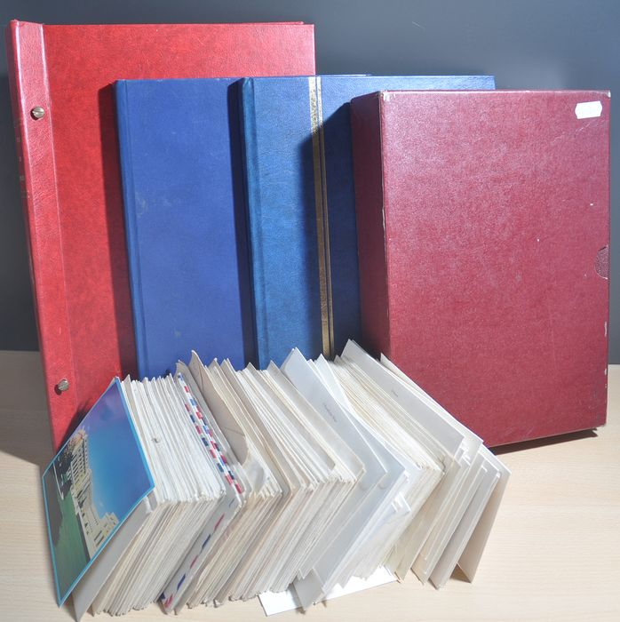 USA - Batch of covers and stamps in albums, loose and stock books