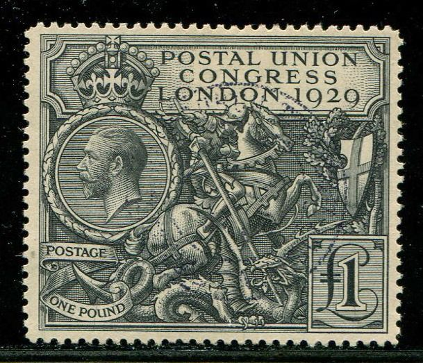 Great Britain 1929 - £1 black PUC - Stanley Gibbons SG438