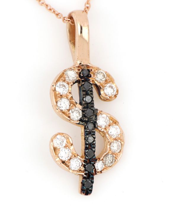 18 kt. Pink gold - Necklace, Necklace with pendant - 0.50 ct Diamond - Diamonds