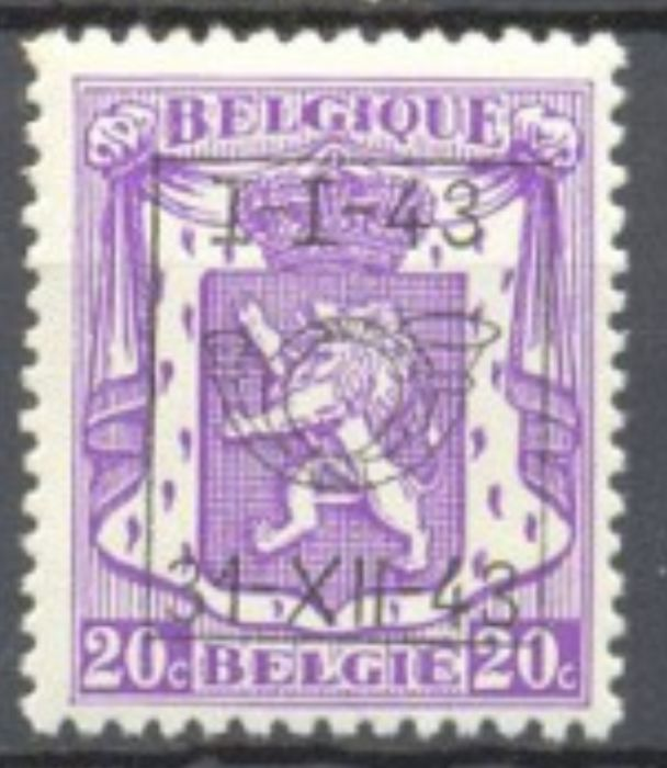 Belgium 1943 - Pre-cancelled set 1-I-43 / 31-XII-43 in complete sheets of 400 - OBP / COB PRE493/501