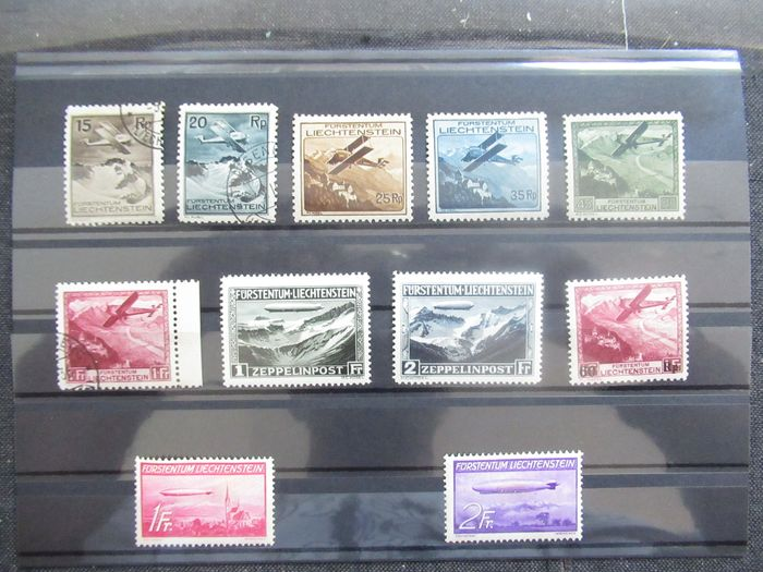 Liechtenstein 1930/1936 - Advanced airmail