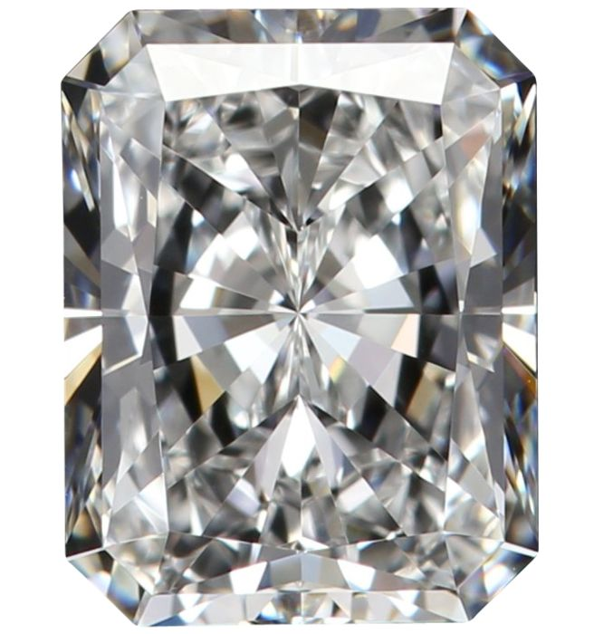 1 pcs Diamond - 0.56 ct - Radiant - D (colourless) - IF (flawless), NO RESERVE!