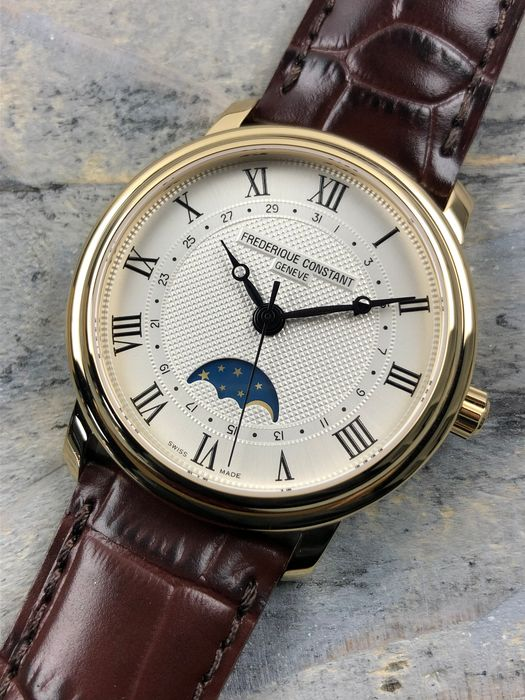 "Frédérique Constant - Classics Moonphase Automatic - FC-330MC4P5 ""NO RESERVE PRICE"" - Men - 2011-present"