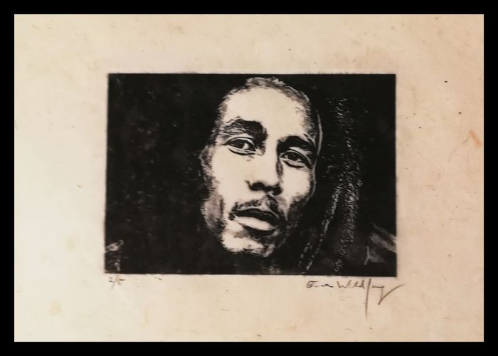 Bob Marley - by Emma Wildfang - Édition limitée, Œuvre d'art/Peinture - 2020/2020