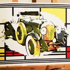 Decoratief object - Bentley from 1931 II- Pop Art - Artwork by artist Emma Wildfang - Bentley