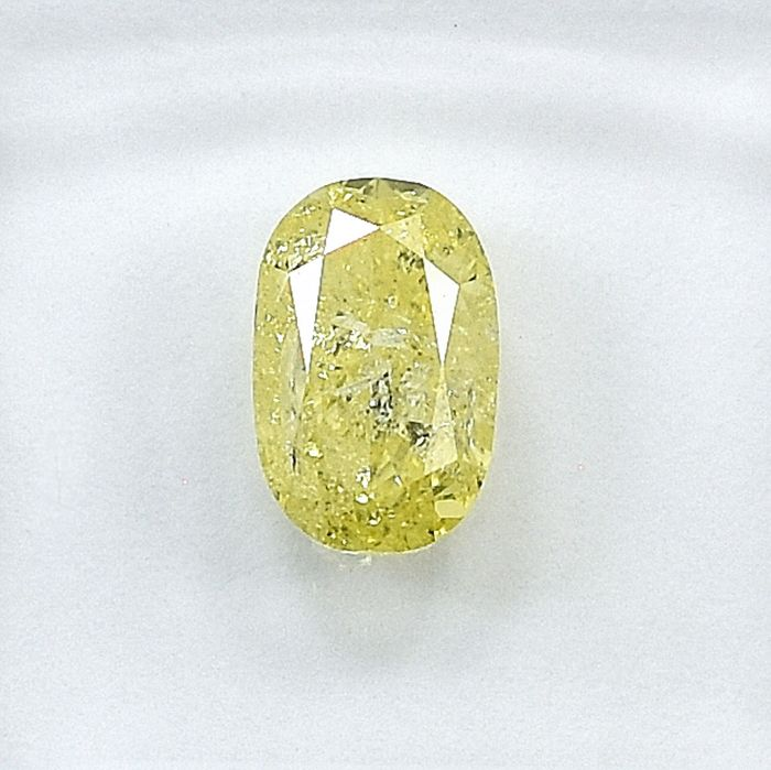Diamond - 1.07 ct - Oval - Natural Fancy Light Yellow - I2