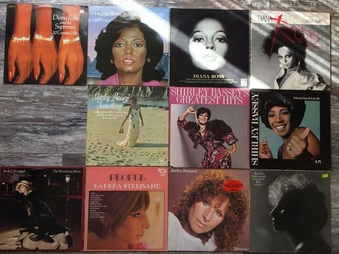 Diana Ross, Shirley Bassey & Barbara Streisand - Ladys Millionsellers from the USA - Multiple titles - LP Album, LP's - 1964/1985
