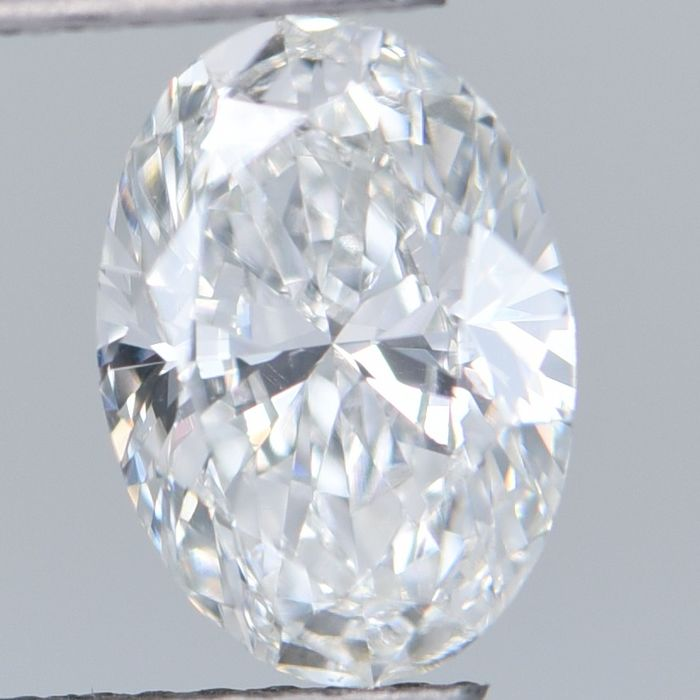 1 pcs Diamond - 1.24 ct - Oval Brilliant - D (colourless) - VS2     GIA Certified
