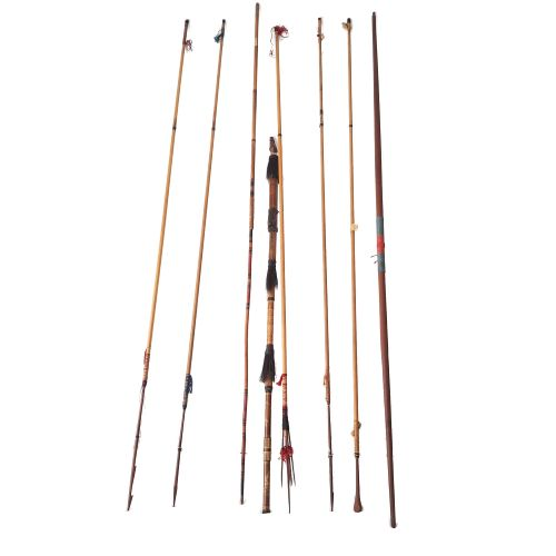 Collection Arrows / spears / bow including West Papua (8) - Wood - amongst others West Papua