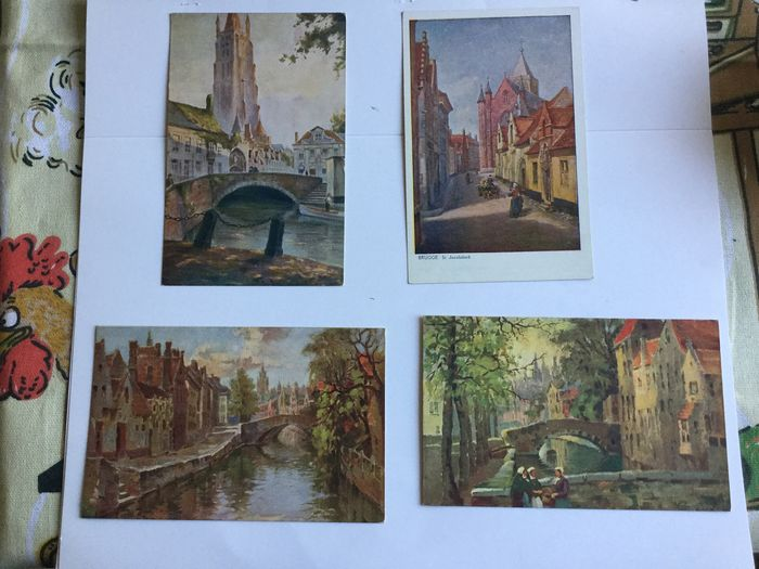 Belgium - Bruges 65 x and Zeebrugge 15x beautiful lot - Postcards (Collection of 80) - 1901