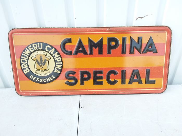 Old rare advertising Campina special (1) - Metal, can