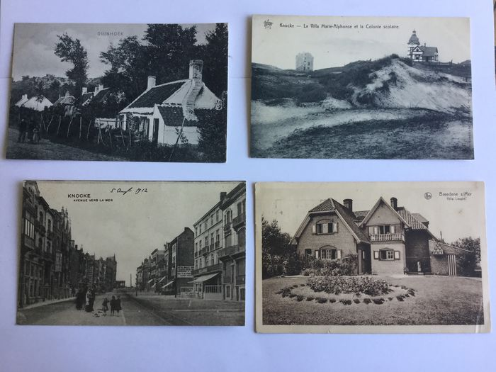 Belgium - BELGIAN COAST beautiful lot with better maps - Postcards (Collection of 100) - 1896