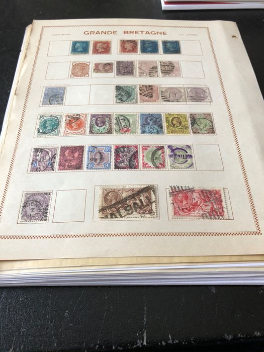 Great Britain 1860/2005 - Mounted on pages
