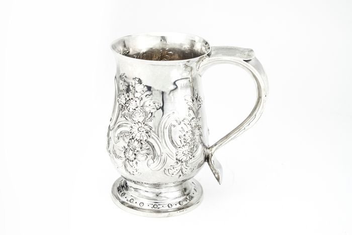 Antique George III mug  - .925 silver - I.S - U.K. - Early 19th century
