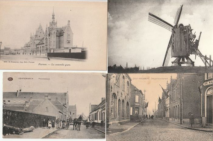 Belgium - Postcards, West Flanders, Belgium (Collection of 104) - 1900-1960