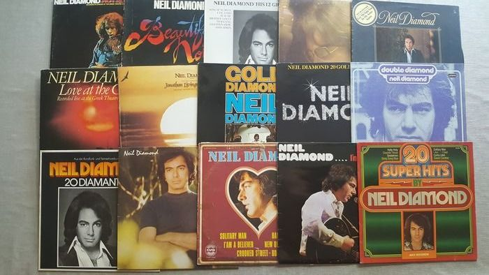 Neil Diamond - 15 lp Albums including 3x double albums. - Multiple titles - 2xLP Album (double album), LP's - 1967/1982
