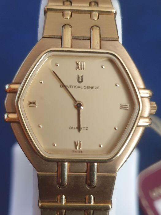 """Universal Genève -  """"NO RESERVE PRICE"""" 18K GOLD ELECTROPLATED """"New Old Stock"""" - 517 600 - Dames - 1990-1999"""