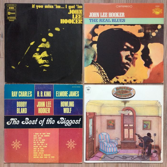 John Lee Hooker, Robert Johnson, Various Artists/Bands in Blues - Multiple artists - If You Miss 'Im... I Got 'Im, The Real Blues, The Best Of The Biggest and  King Of The Delta Blues S - Multiple titles - LP's - 1970/1981