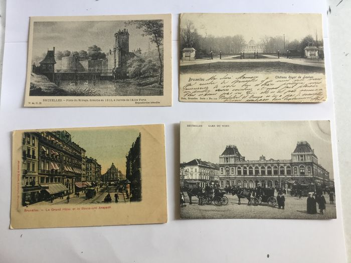 Belgium - Brussels (Bruxelles - Brussels) nice variety - Postcards (Collection of 100) - 1899
