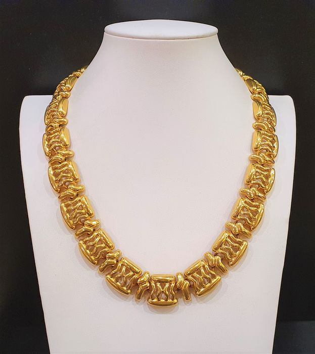 MONET Plaqué or 18 carats - Collier byzantin exclusif
