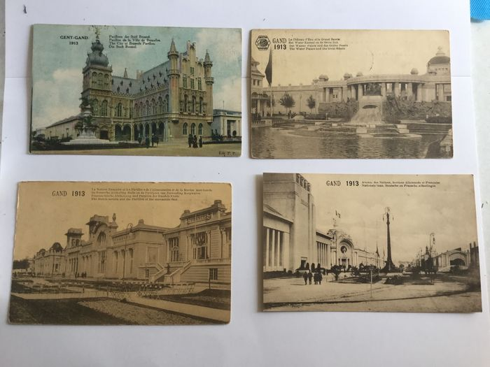 Belgium - beautiful lot Gent expo 1913 and some floral Ghent - Postcards (Collection of 100) - 1913