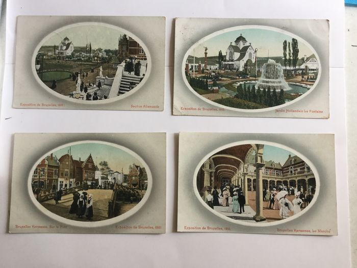 Belgium - Brussels expo 1913 (exposition international Bruxelles) - Postcards (Collection of 104) - 1913