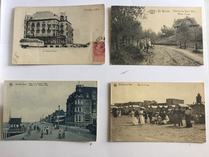 Belgium - Belgian coast (Knokke and Blankenberge) beautiful whole - Postcards (Collection of 100) - 1900