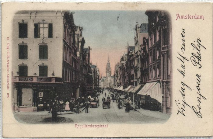 Netherlands - Amsterdam before 1906 - Various streets - mostly center of the city - Postcards (Collection of 90) - 1900-1905