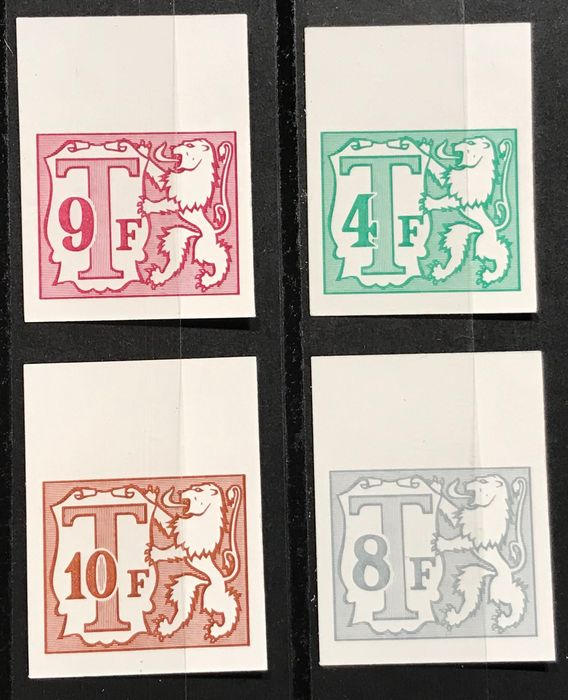 Belgium 1966 - Postage due stamps IMPERFORATE with number 965