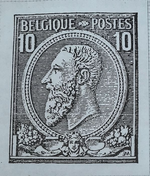 Belgium - Collection of varieties and curiosities on the issue of 1884 - 10c carmine - Stamps and letters - OBP / COB 46